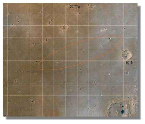 Site d'atterrissage de Beagle 2 : © NASA/ESA/Beagle Team