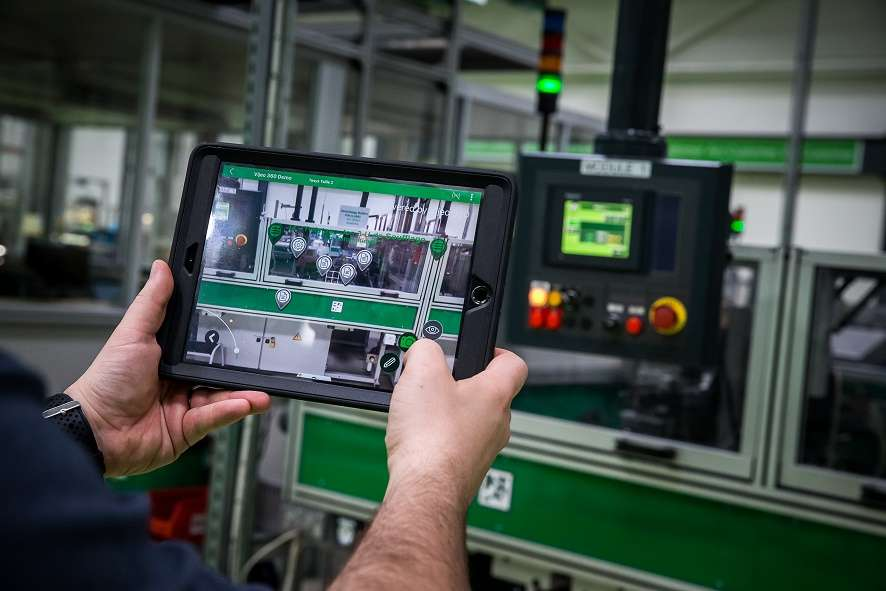 L'application de réalité augmentée de Schneider Electric. © Schneider Electric