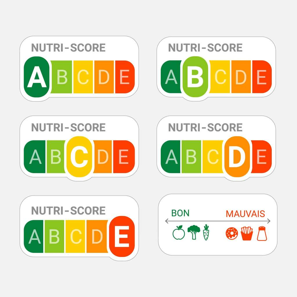 Le visuel du Nutri-Score est facile à comprendre : les aliments de bonne qualité nutritionnelle sont gratifiés d'un A dans le vert. © Nevada31, Fotolia