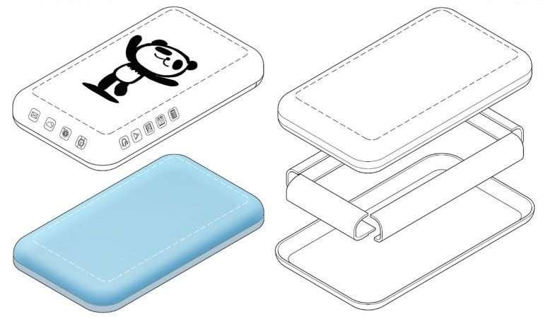 Brevet déposé pour un smartphone avec un écran tactile qui déborde sur les tranches. © LetsGoDigital, Samsung