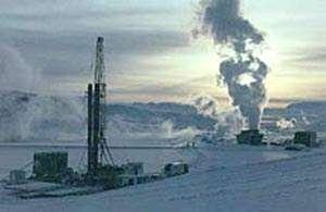 © J. Hólmjárn - Forage à proximité de l'usine géothermale de Krafla en Islande