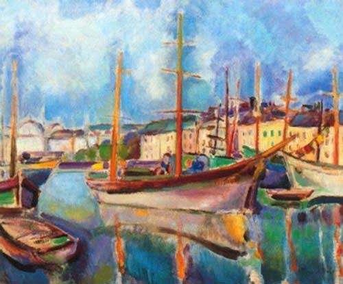 Le port du Havre, peint par Raoul Dufy en 1906
