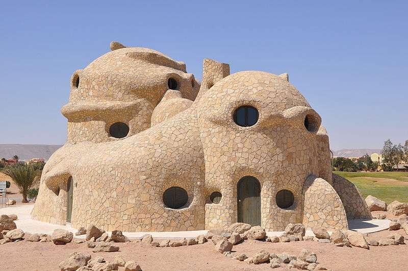 La maison tortue, de l'architecte Kurt Völtzke, à El Gouna (Égypte)