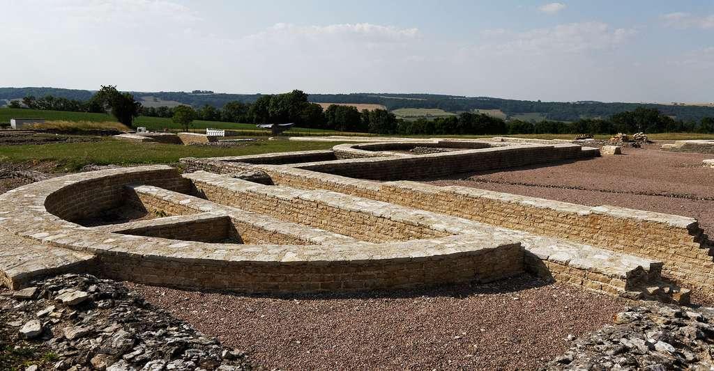 Vue du site archéologique d'Alésia en Côte d'Or. © Thesupermat, Wikimedia commons, CC by-sa 3.0
