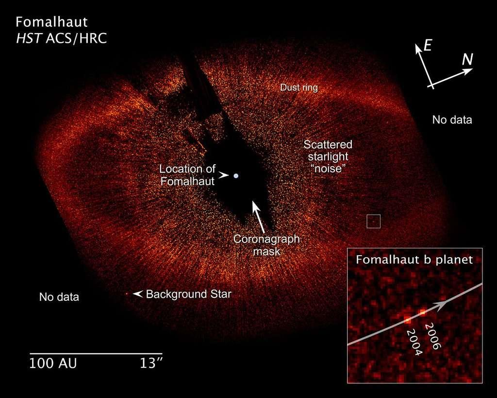 Une exoplanète autour de l'étoile Fomalhaut