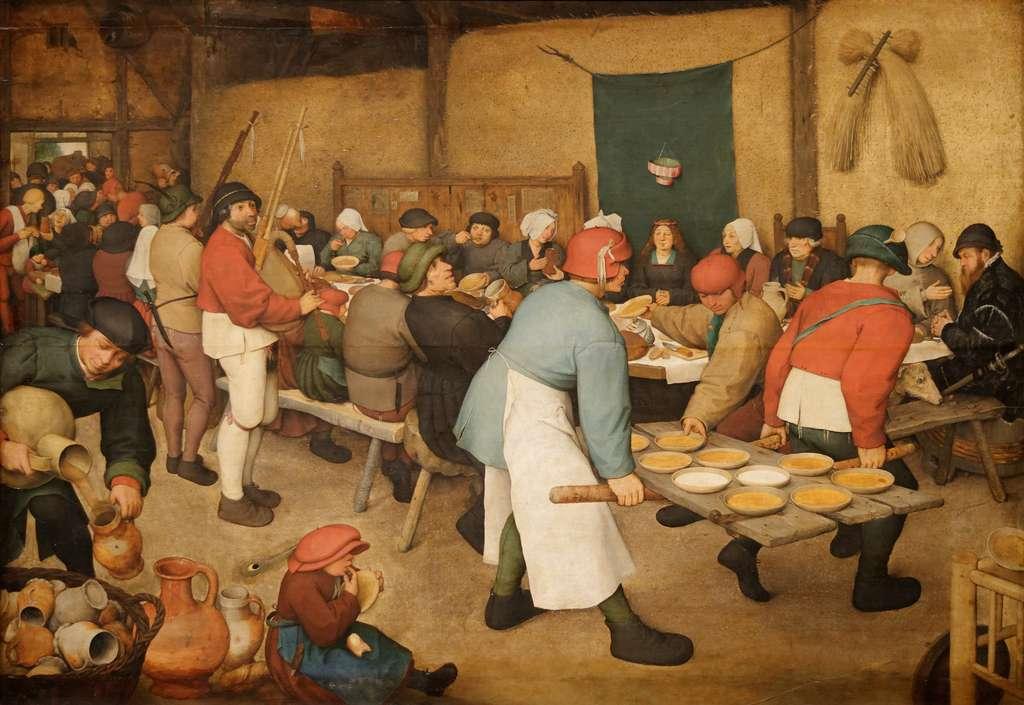 « Le repas de noces » par Pieter Brueghel l'Ancien en 1568. Musée d'Histoire de l'Art, Vienne, Autriche. © Wikimedia Commons, domaine public