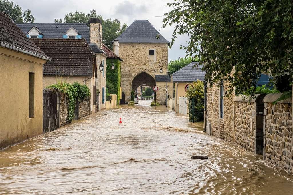 Inondations à Gan (Pyrénées-Atlantiques) en juillet 2018. © Bernard Pez, Flickr