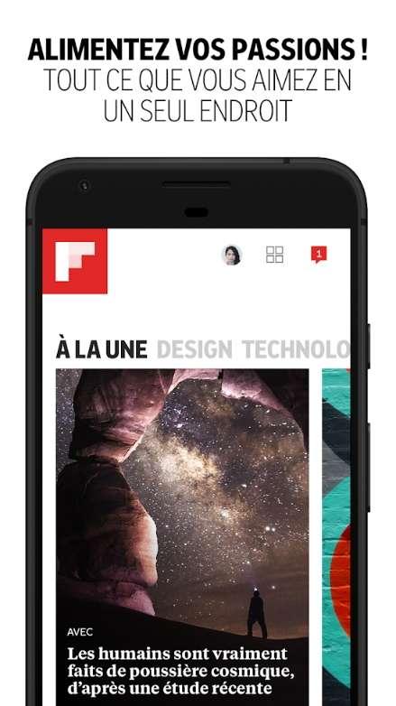 Flipboard crée des magazines intelligents à partir de vos centres d'intérêt. © Flipboard Inc.