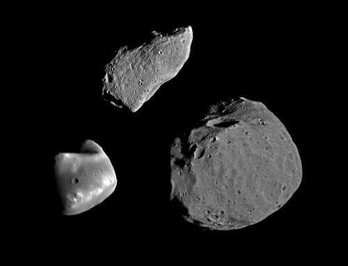 Gaspra,Eros,Phobos