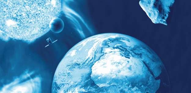 Le programme de surveillance spatiale de l'Esa consiste à repérer les dangers spatiaux et d'élaborer des stratégies pour éviter qu'ils impactent la Terre. © Esa
