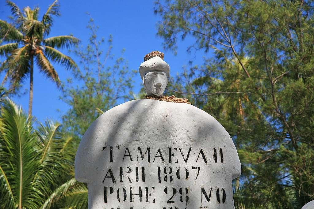 Tombe de Tamaeva II, ancien roi de Rimatara