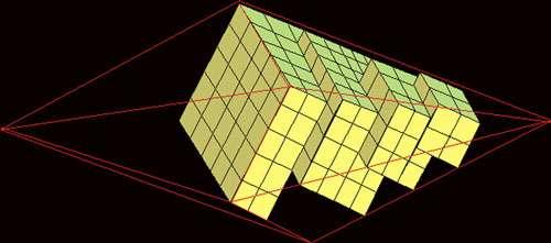 Schéma de croissance d'un cristal, Haüy.