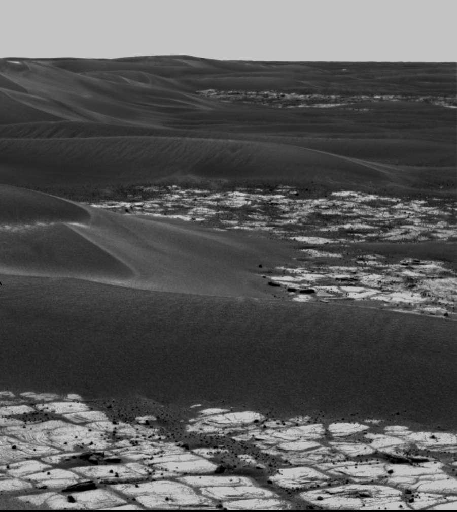 Les dunes noires du cratère Erebus
