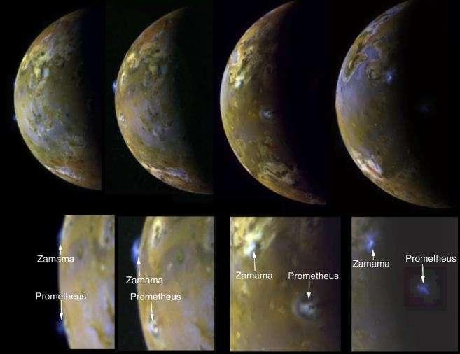 Panaches volcaniques sur Io