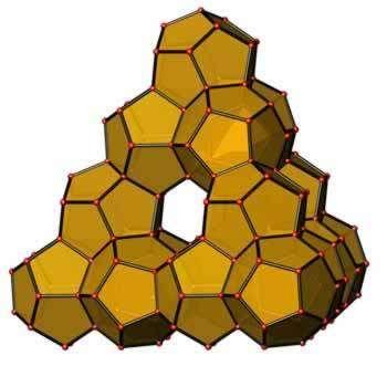 Dans ce clathrate de germanium, les atomes forment des cages n'emprisonnant qu'un espace vide. Outre une très faible densité, cette structure inédite apporte son lot de propriétés originales. Crédit : Michael Baitinger, Max Planck Institue für Chemische Physik fester Stoffe