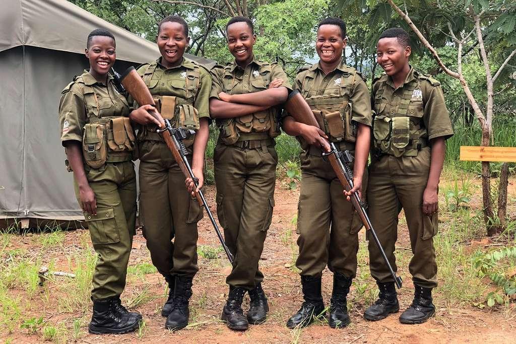 Les rangers dans le Parc national des Virunga, RDC. © Wildhood Foundation, tous droits réservés