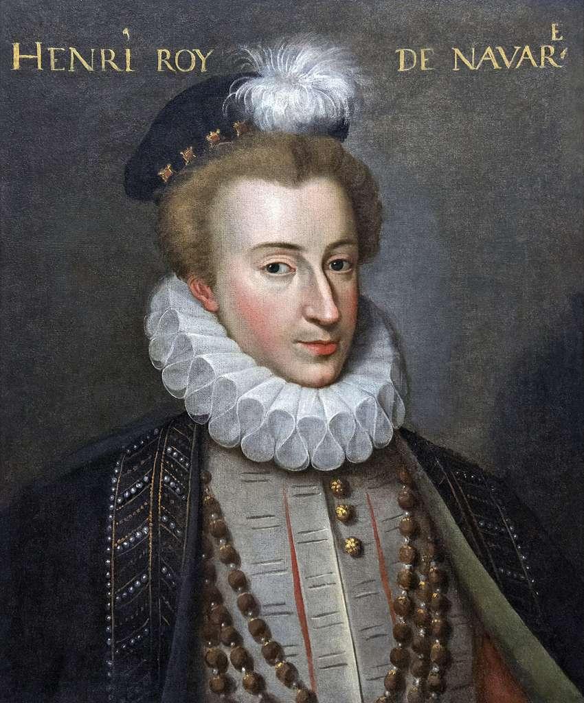 Portrait d'Henri de Bourbon, roi de Navarre, futur Henri IV, auteur anonyme vers 1575. Musée national du Château de Pau. © Wikimedia Commons, domaine public