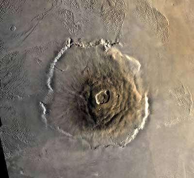Olympus Mons vu par Mars Global Surveyor
