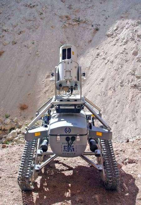 3D-R1, prêt à descendre dans la mine. © 3D Laser Mapping