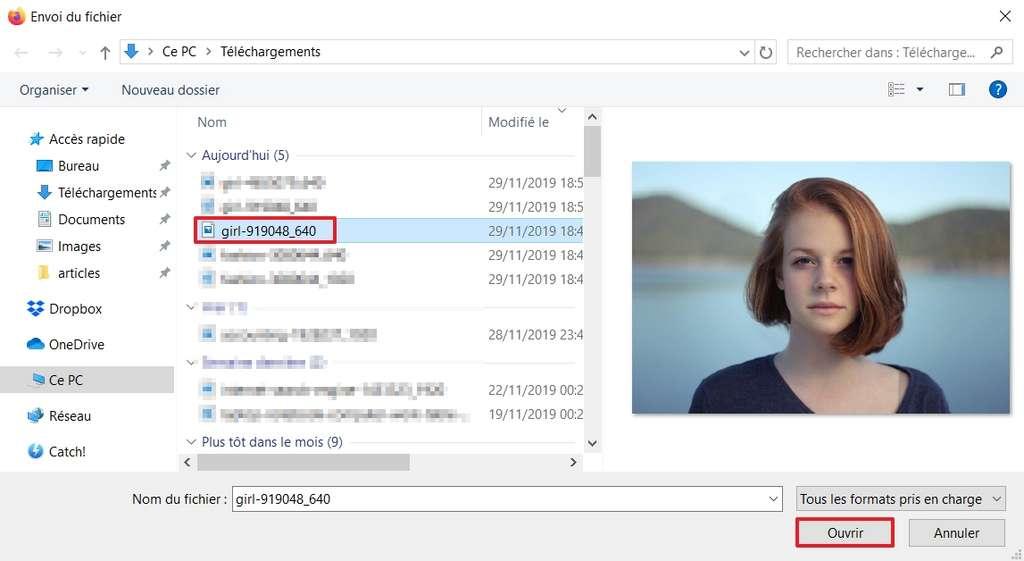 Choisissez l'image à détourer. © Microsoft