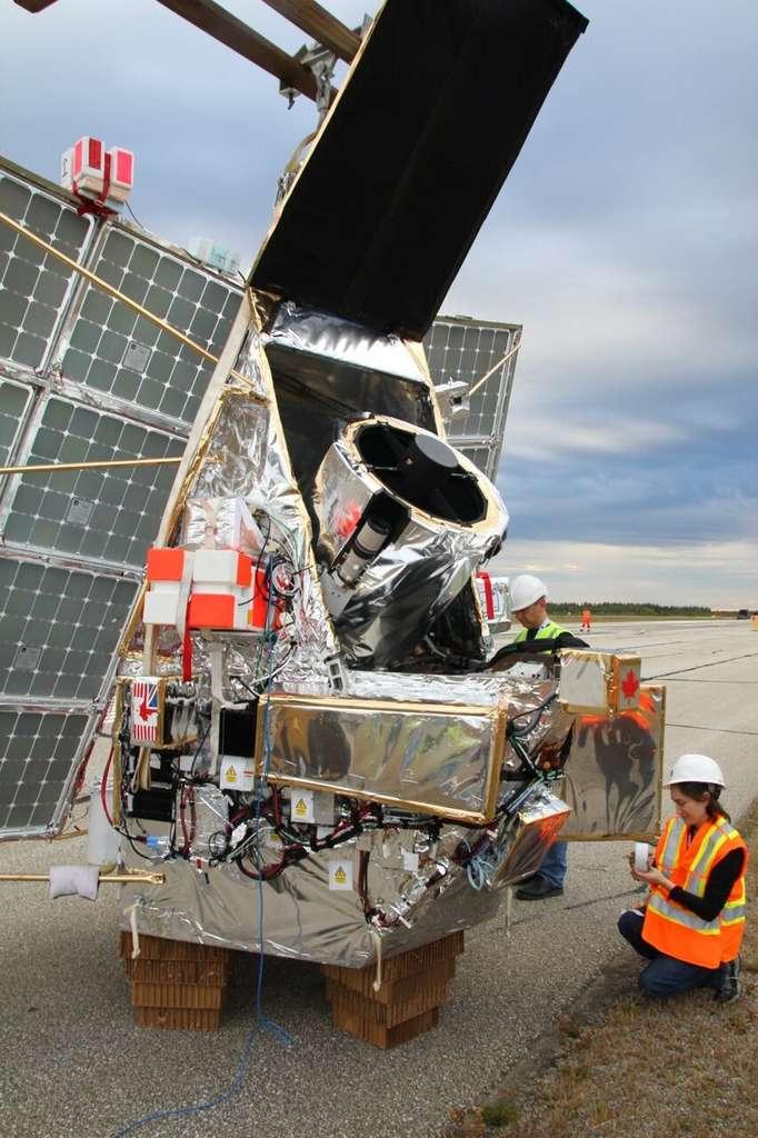 Préparation du ballon SuperBIT sur la base de Timmins Stratospheric Balloon au Canada, en septembre 2019. © Steven Benton, université de Princeton