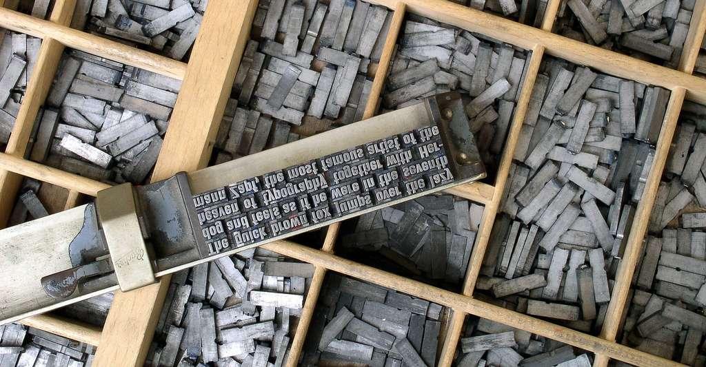 Caractères d'imprimerie. © Wilhei, Pixabay, DP