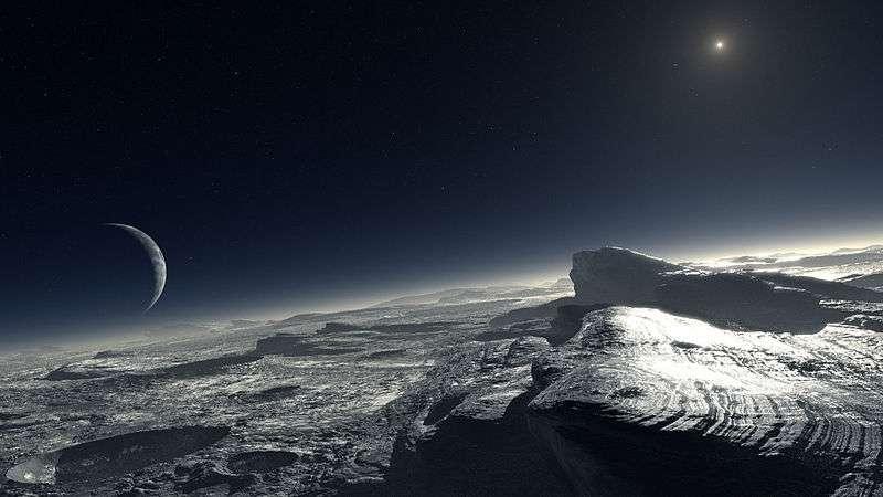 Pluton et le méthane gazeux