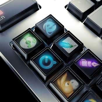 Clavier Optimus, la partie gauche du clavier comporte un bloc additionnel avec des touches attribuables aux différentes applications ou modes de fonctionnement © Art Lebedev