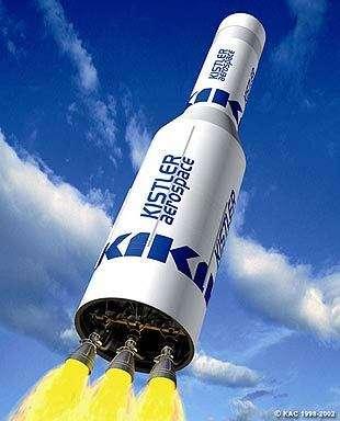 Vue d'artiste du K-1 de Rocketplane Kistler