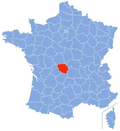 Carte de situation de la Creuse. © Marmelad, Wikipédia, CC by-sa 2.5