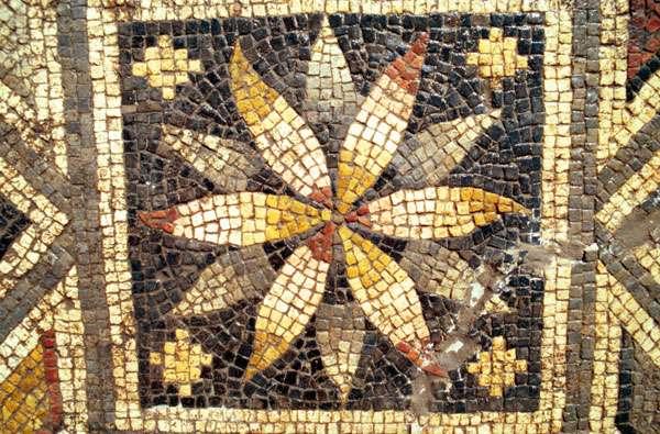 Détail d'une mosaïque de Pasiphaé
