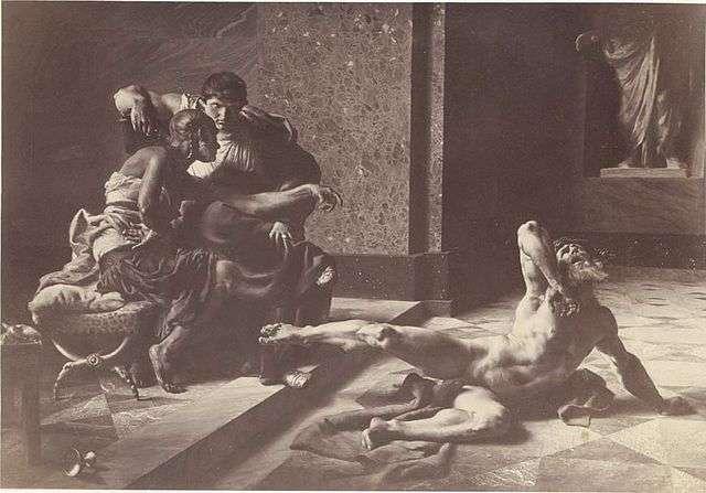 Locuste essaye le poison sur un esclave (œuvre de Joseph-Noël Sylvestre). © Wikimedia Commons, DP