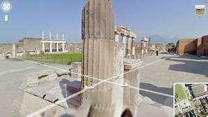 Une vue de Pompéi : Google Street View a intégré, cette semaine, des images de 19 sites inscrits au Patrimoine de l'Unesco. © DR