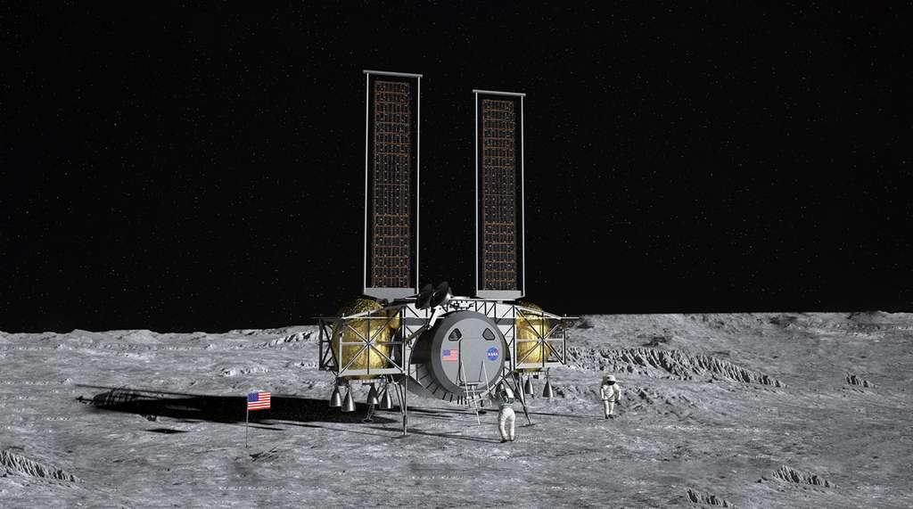 Projet d'atterrisseur lunaire que développe Dynetics (auquel participe Thales Alenia Space en fournissant la cabine pressurisée) pour la Nasa. Il s'agit d'un des trois projets d'atterrisseurs lunaires retenus par la Nasa qui devrait en sélectionner un pour les deux premières missions Artemis envoyées sur la Lune. Les deux autres projets sont ceux de SpaceX et de Blue Origin. © Dynetics