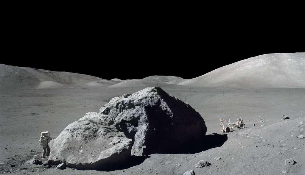 La surface de la Lune photographiée par Eugène Cernan, lors de la mission Apollo 17. © Nasa de l'image