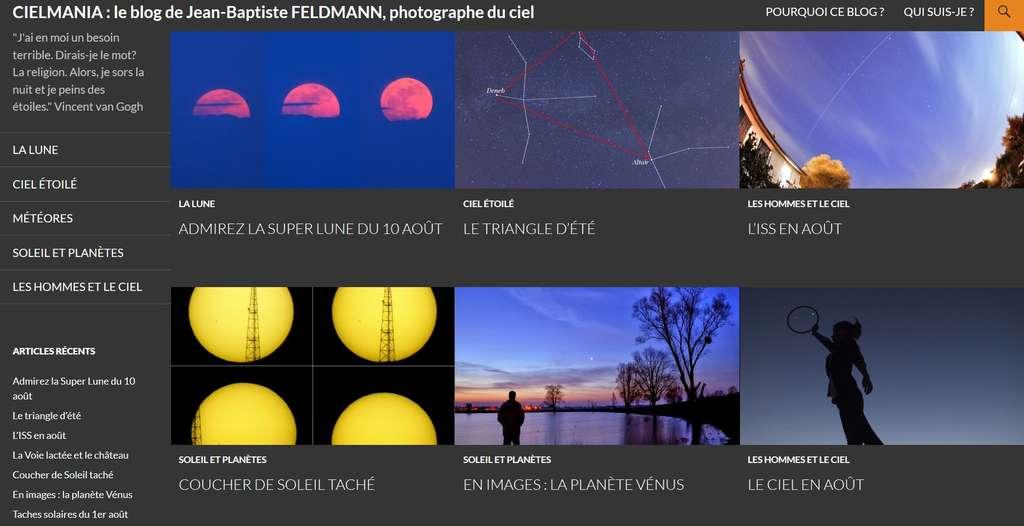 Cielmania, le blog qui parle du ciel, s'adresse aux astronomes amateurs... et à tous les autres, qui y trouveront de superbes photographies de l'auteur.