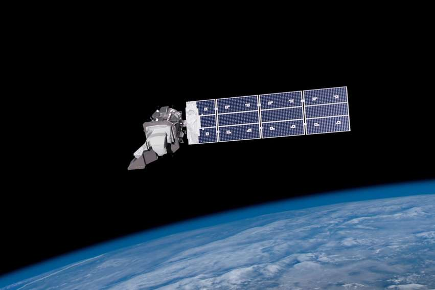 Vue d'artiste du satellite d'observation terrestre, Landsat-9. © Nasa