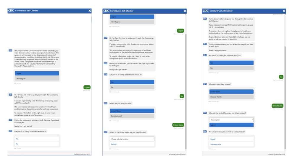 Le chatbot de Microsoft engage la conversation pour faire un premier diagnostic. © Microsoft