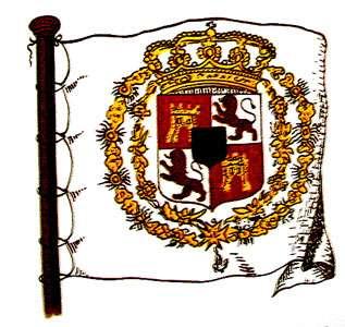 Pavillon royal de vaisseaux espagnols.