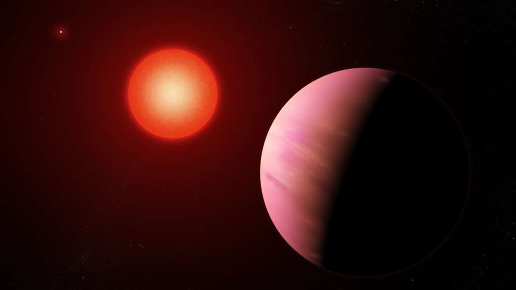 Vue d'artiste de la planète K2-288B b, située à 226 années-lumière de nous. © Nasa's Goddard Space Flight Center, Francis Reddy