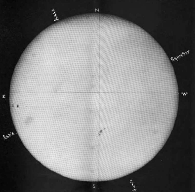 Notre étoile, le Soleil, photographiée le 31 octobre 1903 à l'Observatoire royal de Greenwich. © Greenwich Royal Observatory, DP