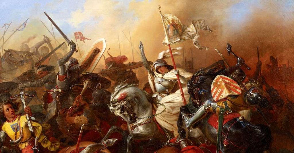 En 1429, Jeanne d'Arc arrive et reprend Orléans. © August Gustav Lasinsky (1811–1870), Wikimedia Commons, DP