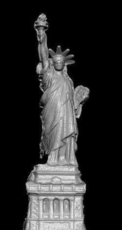La Statue de la Liberté, synthétisée en 3D. Crédit Université de Washington