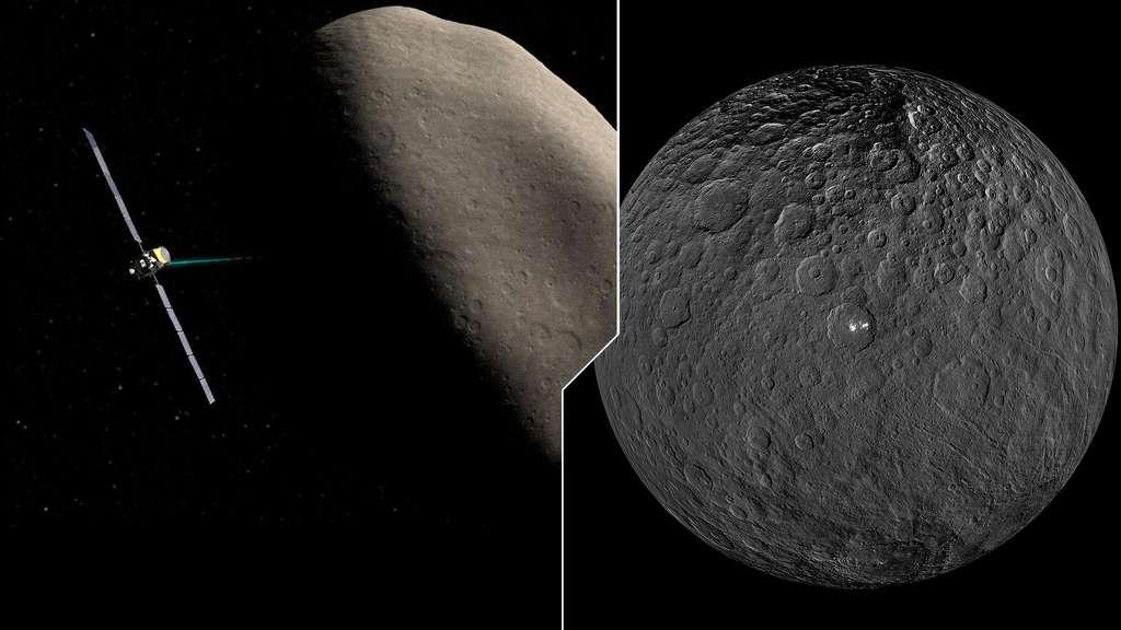 Vesta et Cérès dévoilées par la sonde Dawn