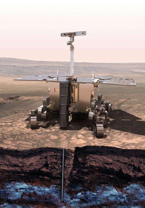 Le prochain rover de l'Agence spatiale européenne (ESA) — et de Roscosmos — à partir pour Mars a été baptisé Rosalind Franklin. Il creusera à deux mètres sous la surface de Mars à la recherche de traces de vie. © NYU Abu Dhabi