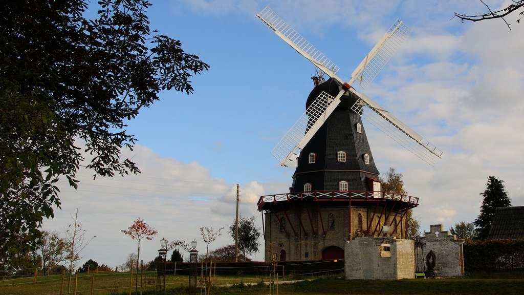 Le moulin à vent de Løve Mølle, Danemark