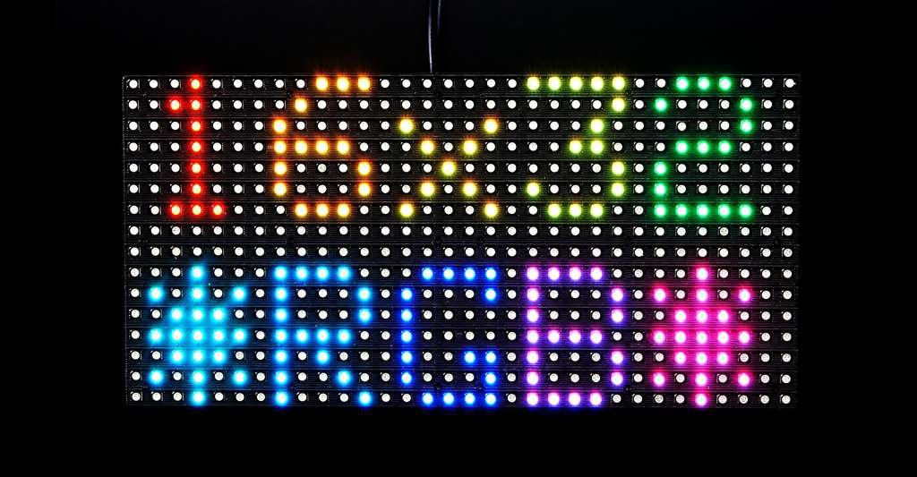 Medium 16x32 RGB LED matrix panel. © Adafruit Industries CC BY-NC 2.0