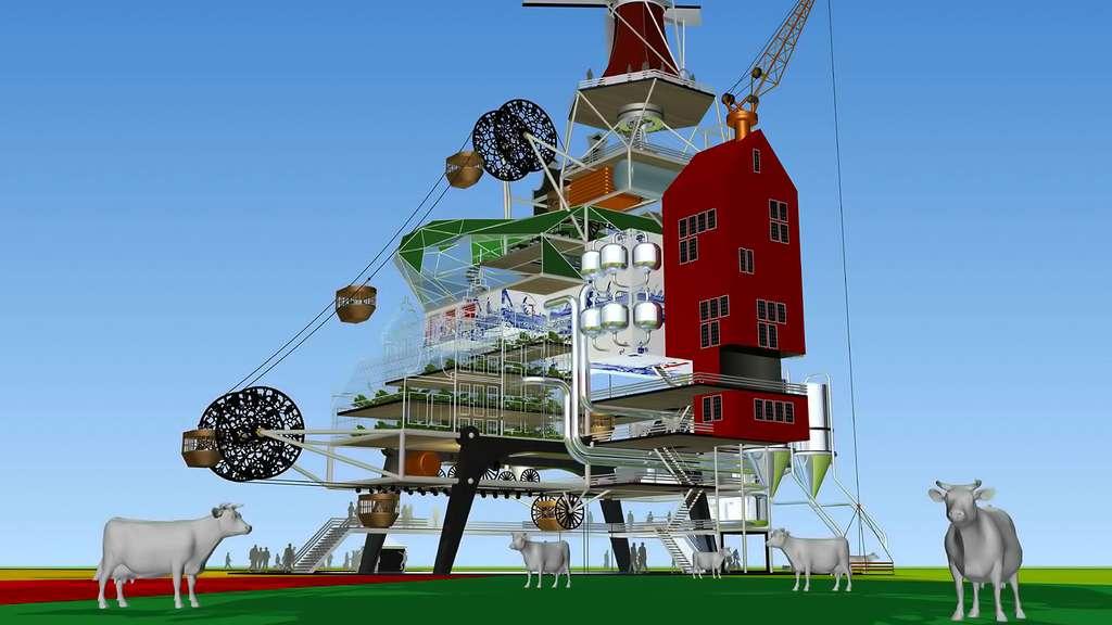 Oogst 1000, une ferme du futur qui fera aussi hôtel et restaurant