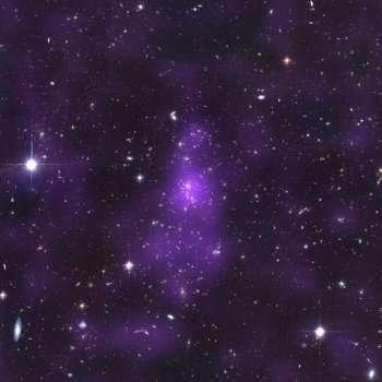 Matière noire en violet, dans la galaxie CL 0152-1357 © Jee et al. 2005, Astrophysical Journal