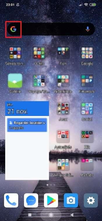 Consultez Discover en appuyant sur le « G » du champ de recherche. © Xiaomi Corporation